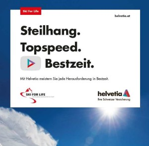 Helvetia unterstützt Ski for Life